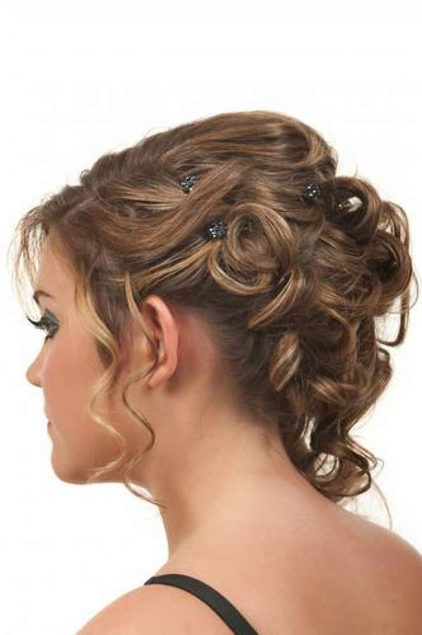 Beautiful Party Wear Hairstyle For Medium Hair
