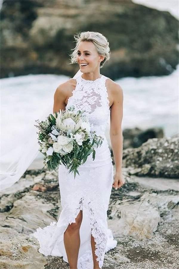 Beach Mermaid Wedding Dress