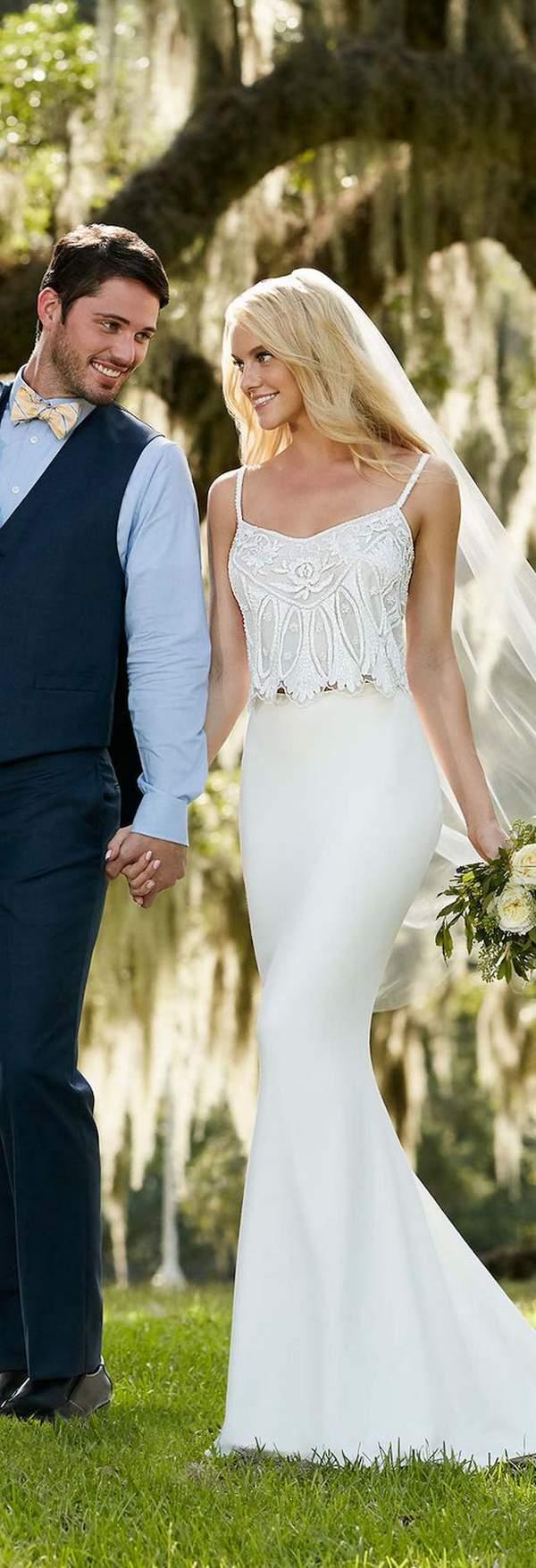 Spring 2018 Martina Liana Beach Wedding Dresses