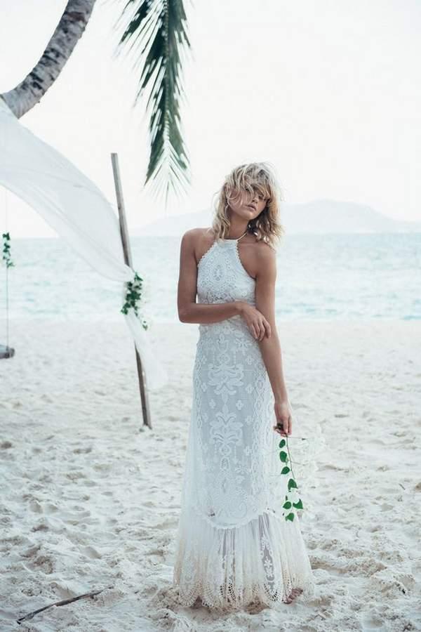Bohemian Beach Wedding Dresses