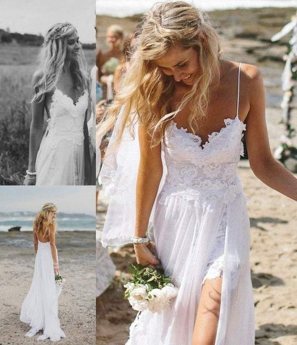 Best Styles for Beach Wedding Dresses_27