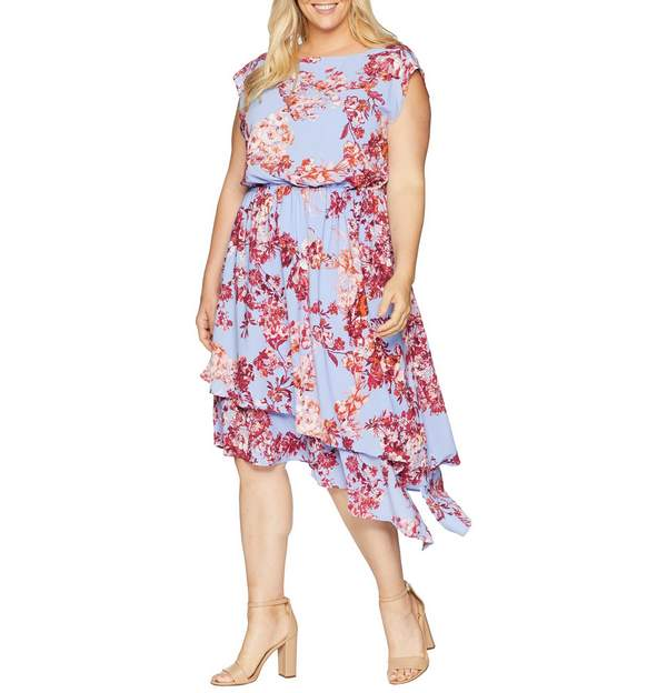 Adrianna Papell Plus Size Barque Floral Dress