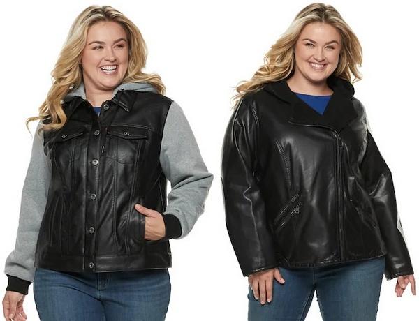 Plus size clothing for winter 2019_Black Leather Jacket_06