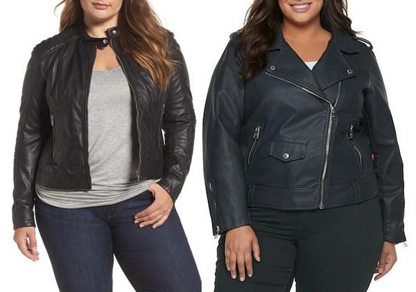 Plus size clothing for winter 2019_Black Leather Jacket_07