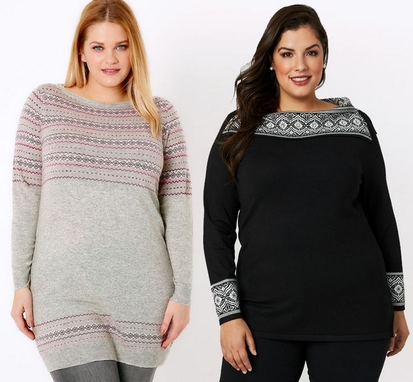 Plus size clothing for winter 2019_Knitted Jumpers_01