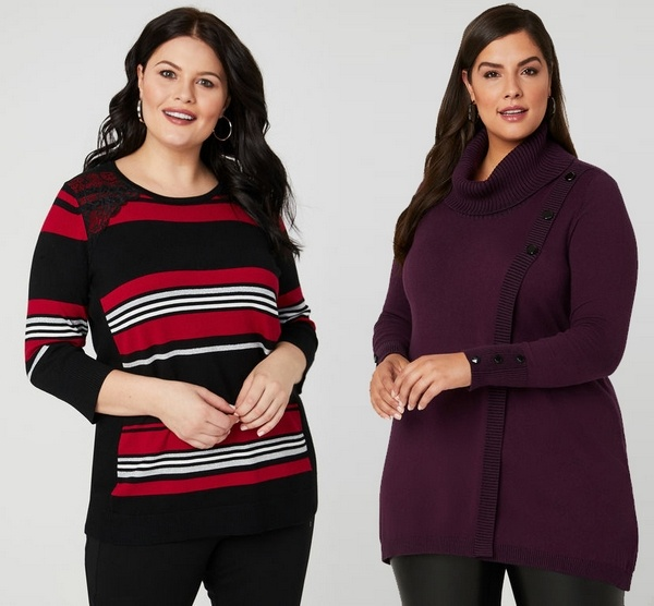 Plus size clothing for winter 2019_Knitted Jumpers_02