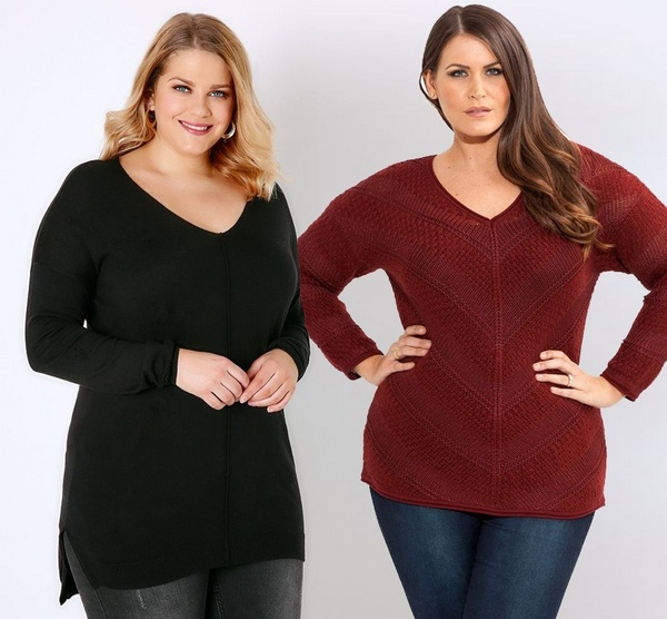 Plus size clothing for winter 2019_Knitted Jumpers_03
