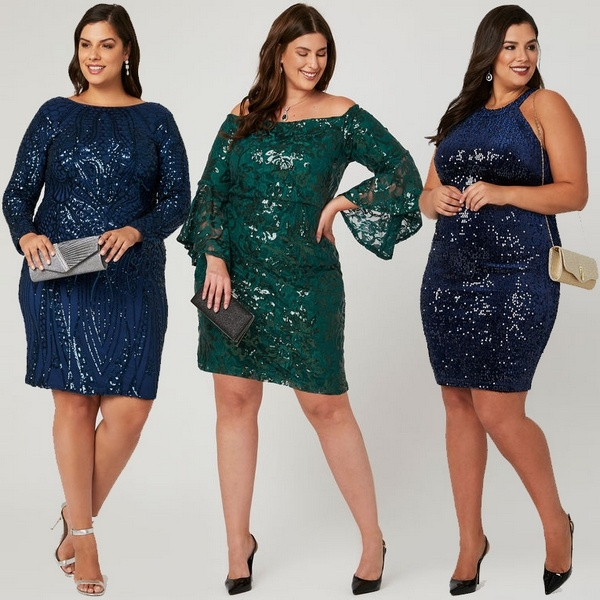 Plus size clothing for winter 2019_Sequined Velour Dress_04
