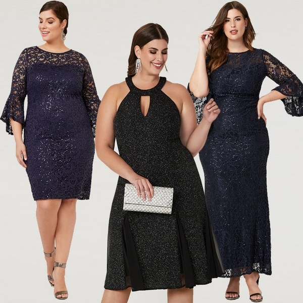 Plus size clothing for winter 2019_Sequined Velour Dress_05