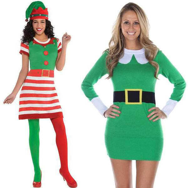 The Edgy Elf Christmas Sweater Dress