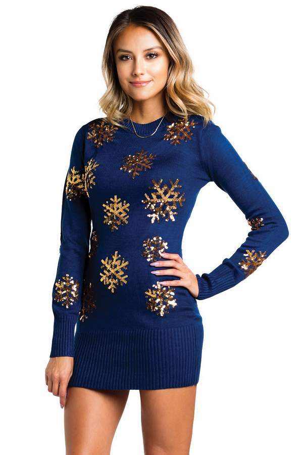 Variety Of Ugly Christmas Sweater Dress Styles For Holiday