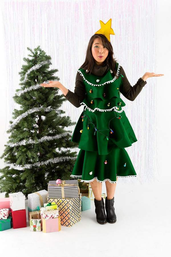 Christmas tree Sweater Dress