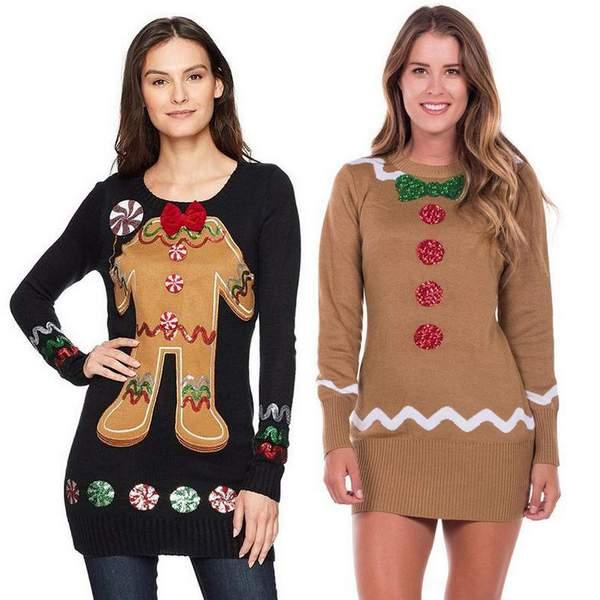 Gingerbread Sweater Dress