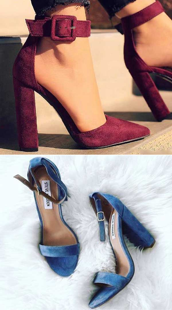 Ankle Strap Block Heel Dress Sandals