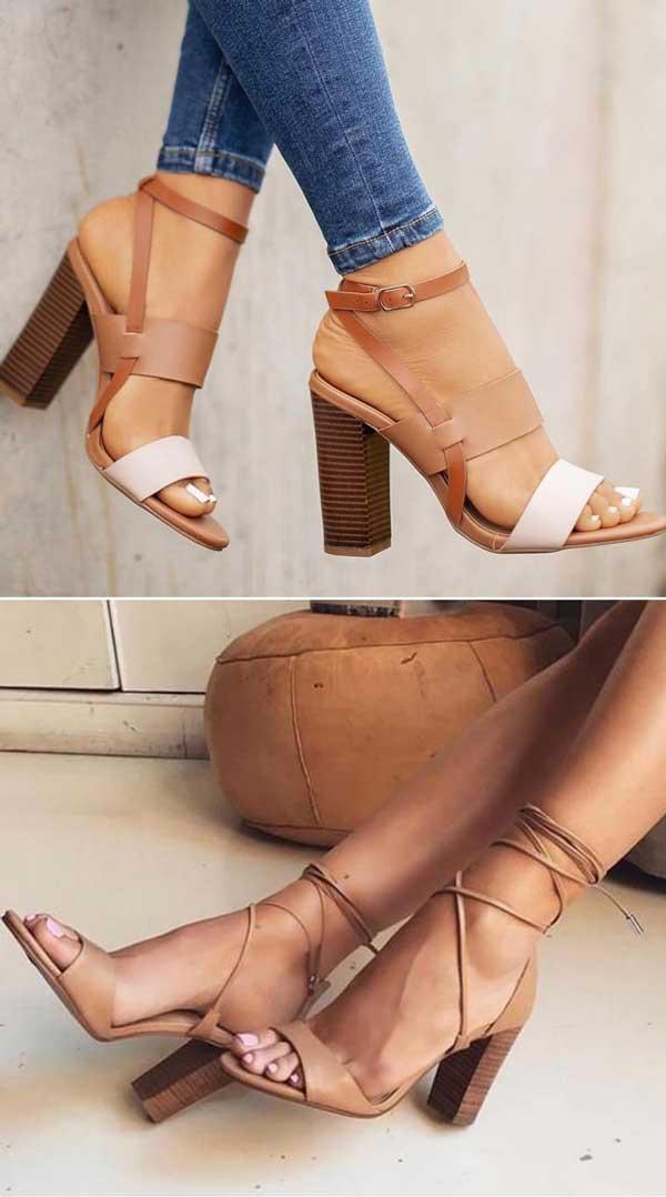 LOUIE HEELS and Esin - Block Heels Sandal