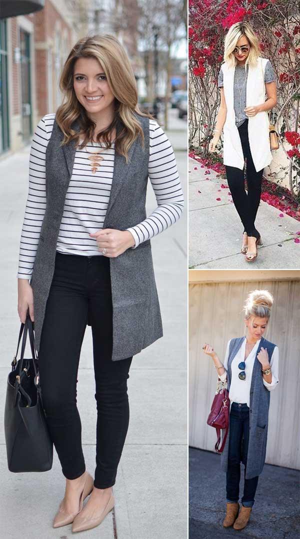Long Vest Outfit Ideas