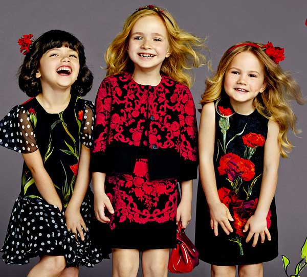 dolce and gabbana kids clothing trends