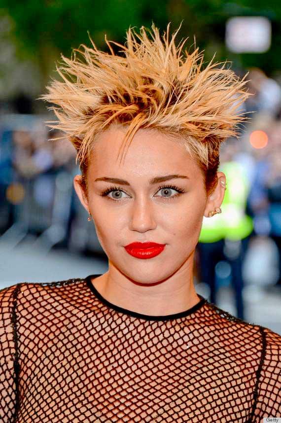 Miley Cyrus Short Spiky Hair