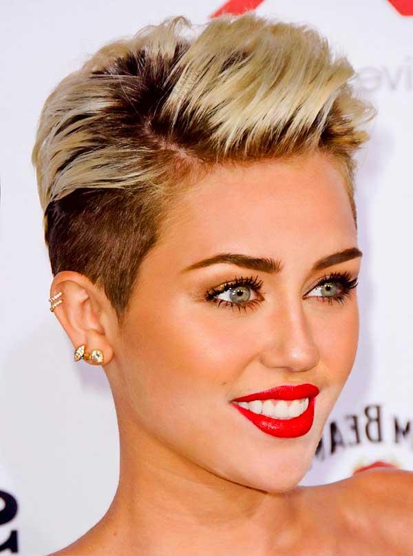 Miley Cyrus Pixie Haircuts