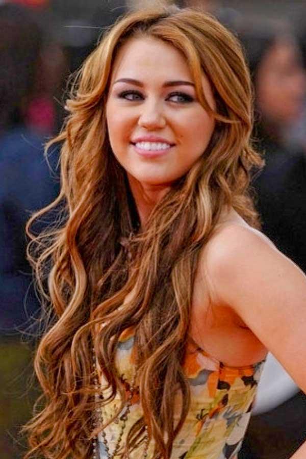 Miley Cyrus Long Hair Style