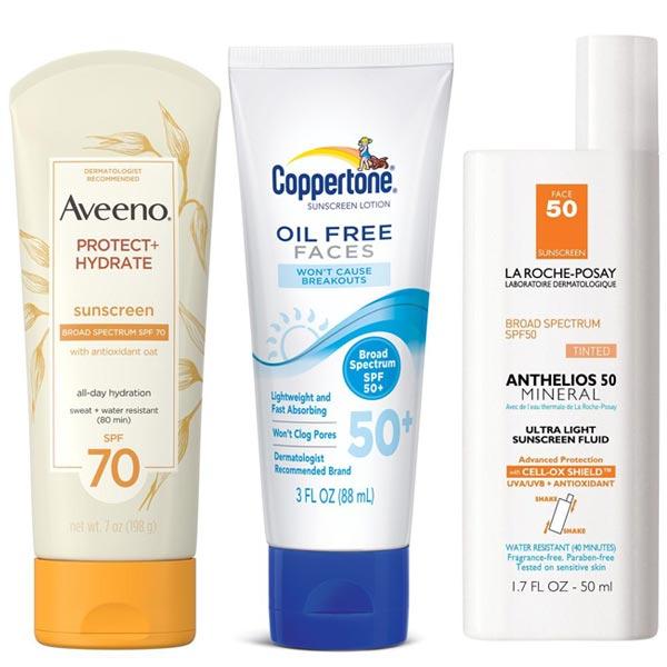 Aveeno, Coppertone, La Roche-Posay Fun in the Sun – Best Body Lotions with SPF – Sunscreen