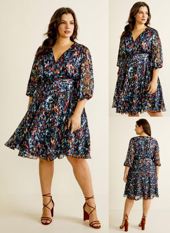 Laura Plus Size Printed Wrap Dress