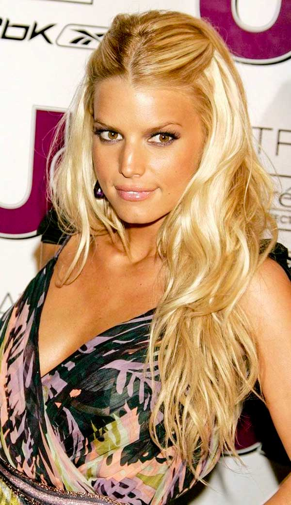 jessica simpson urban hairstyles half updo hairstyles
